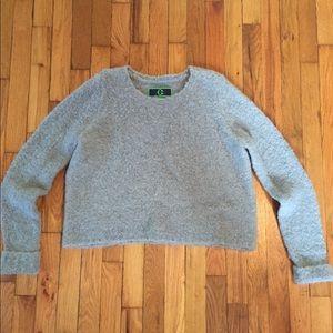 C Wonder Grey Cropped Sweater Size Large